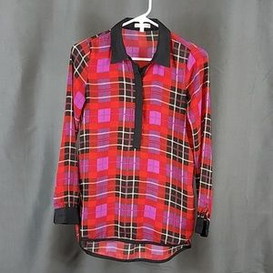 3 for $12- XS Plaid Blouse
